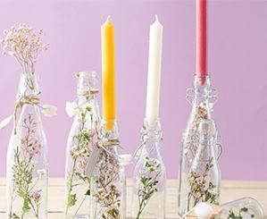 Blumen in Flaschen - Flaschenbeet | NANU-NANA