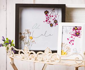 gepresste Blumen in einem Bilderrahmen von NANU-NANA