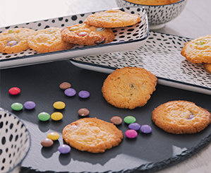 Schokolinsen-Kekse von der Glückswerkstatt |NANU-NANA
