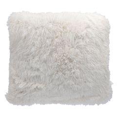 Kissen Zottel, weiß, 50 cm
