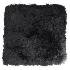 Kissen Zottel, schwarz, 50 cm