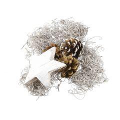 Potpourri Weihnachten, Stern, natur/weiß, 250 g