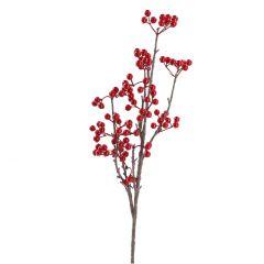 Zweig Beeren, rot, 64 cm