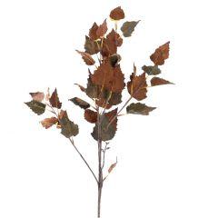 Zweig Herbstlaub, braun, 92 cm