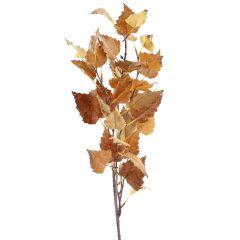 Zweig Herbstlaub, dunkelorange, 92 cm