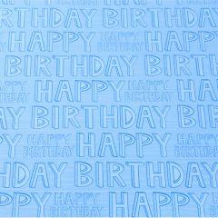Geschenkpapier Happy Birthday, blau, 2 m