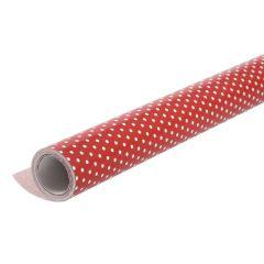 Geschenkpapier Punkte, rot/weiß, 10 m