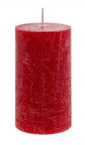 Kerze Rustik, Lara, rot, 12 cm
