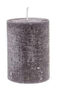 Kerze Rustik, Lara, schwarz, 9 cm