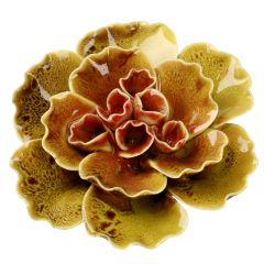 Blüte, breit, Welle, gelb, 11.5 cm
