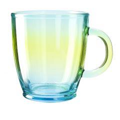 Teeglas farbig, türkis, 380 ml