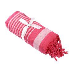 Strandtuch Streifen, pink, 1,7 m