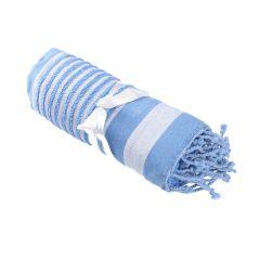 Strandtuch Streifen, blau, 1,7 m