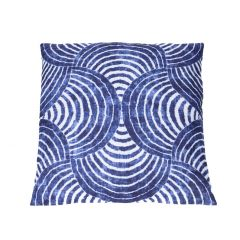 Kissen Muster, Bogen, blau/weiß, 40 x 40 cm
