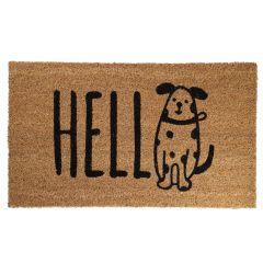 Fußmatte Hello, Hund, 35 x 60 cm