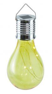 Solar-Birne, hängend, gelb