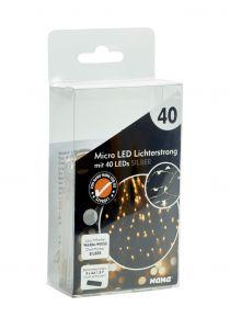 LED-Lichterkette Strang, silber, 40er