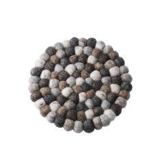 Untersetzer Filzkugeln, grau-gemixt, 20 cm