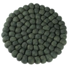 Untersetzer Filzkugeln, dunkelgrün , 20 cm