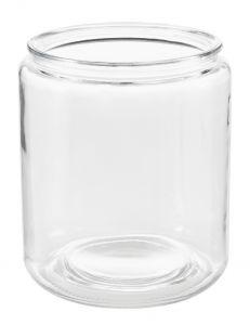 Glas-Windlicht Zylinder, dick, 18 x 20 cm
