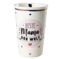 Becher Leonie, Mama/Kreise, rosa, 400 ml