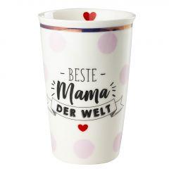Becher Leonie, Mama/Punkte, rosa, 400 ml