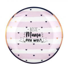 Teller Leonie, Mama/Streifen, rosa, 19 cm