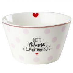 Müslischale Leonie, Mama/Punkte, rosa, 13 cm