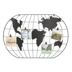 Memoboard Weltkarte mit 4 Clips