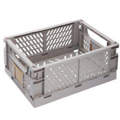 Klappbox, 33 x 24.5 cm, hellgrau
