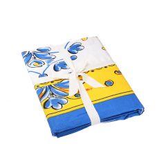 Tischdecke Mina, blau/gelb, 150 x 300 cm