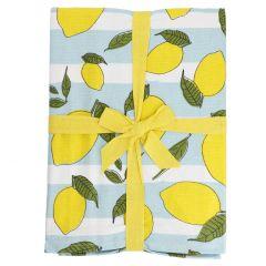 Tischdecke Frucht, Zitrone gestreift, 140 x 200 cm