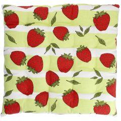 Stuhlkissen Frucht, Erdbeere, 40 x 40 cm