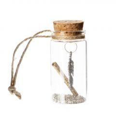 Flaschenpost Gutschein, Feder, 7 cm