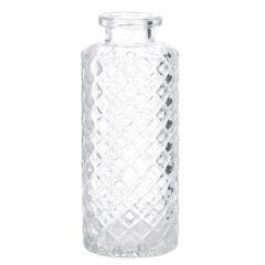 Flaschen-Vase Rauten, schmal