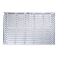 Teppich Outdoor, Streifen/Raute, d-blau, 120 x 180 cm