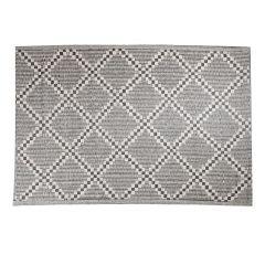 Teppich Outdoor, Raute beige/schwarz, 120 x 180 cm