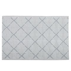 Teppich Outdoor, Raute/Linie grau/weiß, 120 x 180 cm