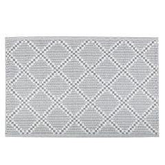Teppich Outdoor, Rauten weiß/grau, 120 x 180 cm