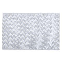 Teppich Outdoor, Striche hellblau/weiß, 120 x 180 cm