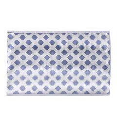 Teppich Outdoor, Fliese dunkelblau/weiß, 120 x 180 cm