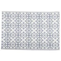 Teppich Outdoor, Orient grau/weiß, 120 x 180 cm