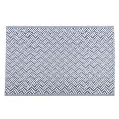 Teppich Outdoor, Striche dunkelblau/weiß, 120 x 180 cm