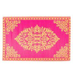 Teppich Outdoor, Oriental pink/gelb, 120 x 180 cm