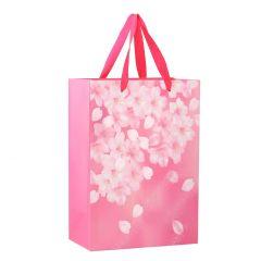 Geschenktüte Blütenregen, pink, 25 cm