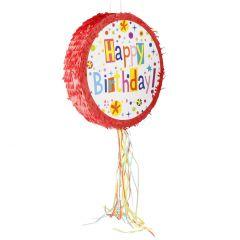 Pinata Papier, Happy Birthday/rot