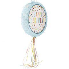 Pinata Papier, Happy Birthday/blau