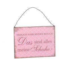 Schild Spruch, Schuhe, rosa, 15 x 20 cm