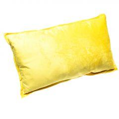 Kissen Samt, Stehsaum, gelb, 30 x 50 cm