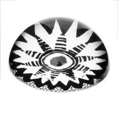 Briefbeschwerer Sonne, schwarz/weiß, 8 cm